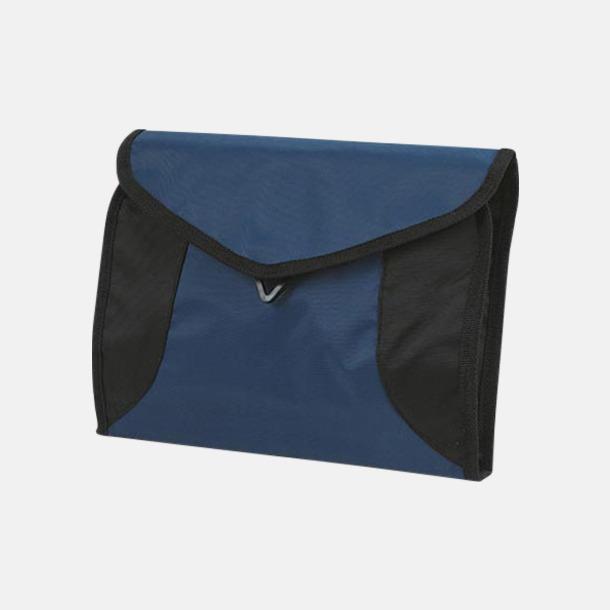 Marinblå Vikbara necessärer i flera färger - med reklamtryck