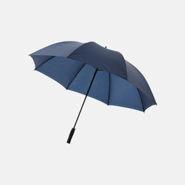 """Marinblå 30""""-stormparaplyer med reklamtryck"""