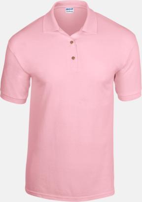 Ljusrosa Billiga herrpikétröjor med tryck