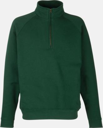 Bottle Green Sweatshirt med tryck