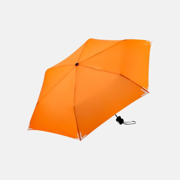 Orange Kompakta reflex paraplyer med eget reklamtryck