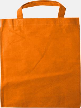 Orange - Korta handtag Bärkassar med långa eller korta handtag i Non Woven - med tryck