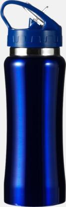 Mörkblå Vattenflaskor med handtag - med reklamtryck