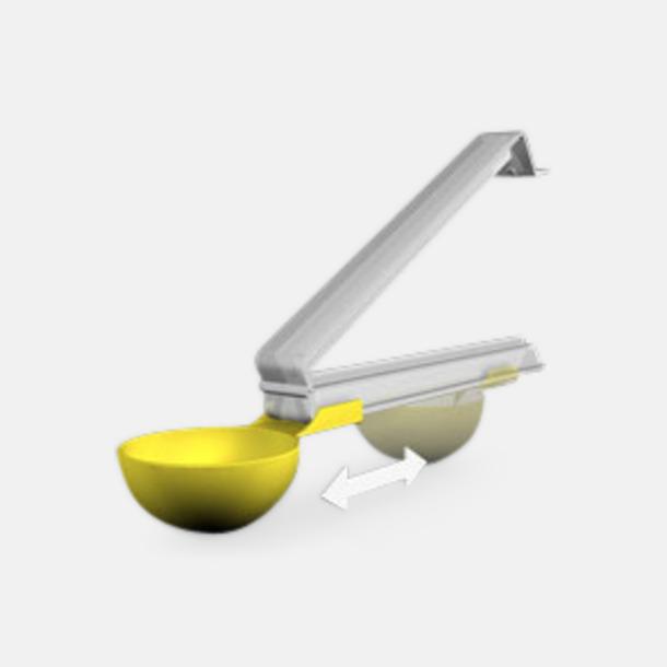 Transparent/gul Kaffeskopor med tryck