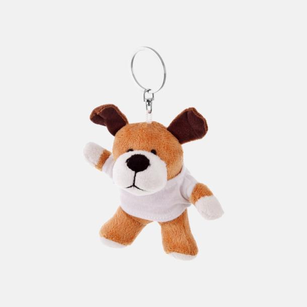 Hund Nyckelringsmaskotar med reklamtryck