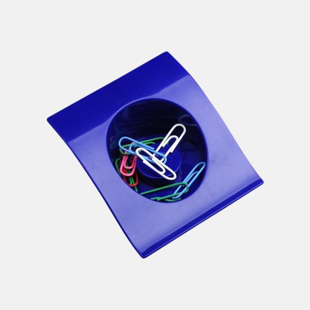 Blå Gemhållare med 10 gem - med reklamtryck