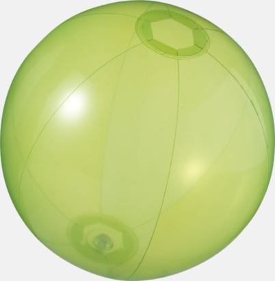 Grön (transparent) Badbollar i solida och transparenta färger med reklamtryck