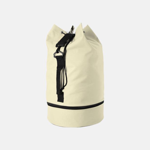 Beige Sjömansväskor i polyester med tryck