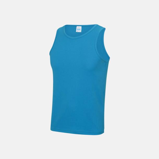 Sapphire Blue (unisex) Enfärgade funktionslinnen i unisex-, dam & barnmodell med reklamtryck