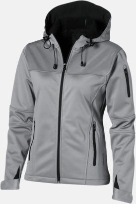 Grey (solid)/Svart (dam) Soft-shell-jackor i herr- & dammodell med reklamtryck