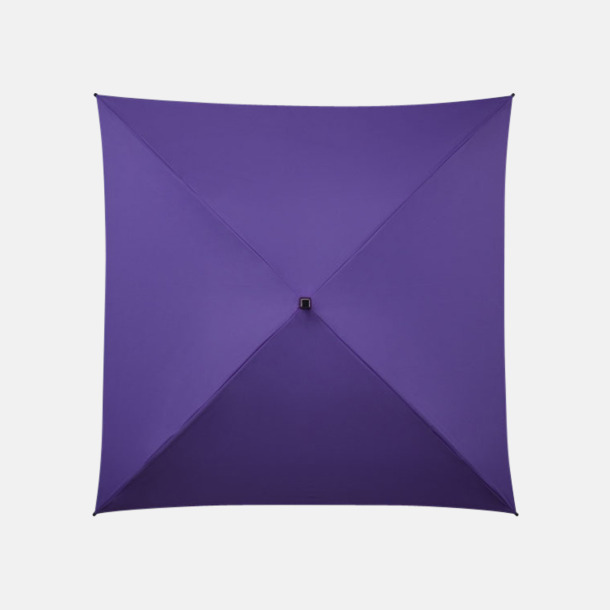 Lila (PMS 2725C) Fyrkantiga Paraplyer med eget tryck