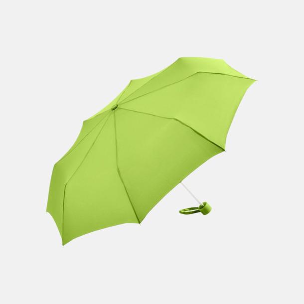 Limegrön Kompaktparaplyer i aluminium med tryck