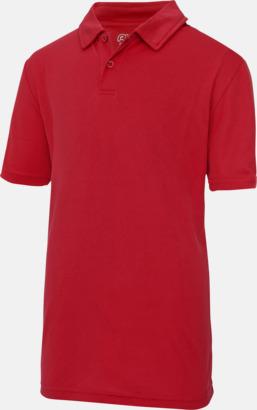 Fire Red Barnpikétröjor i många färger - med reklamtryck
