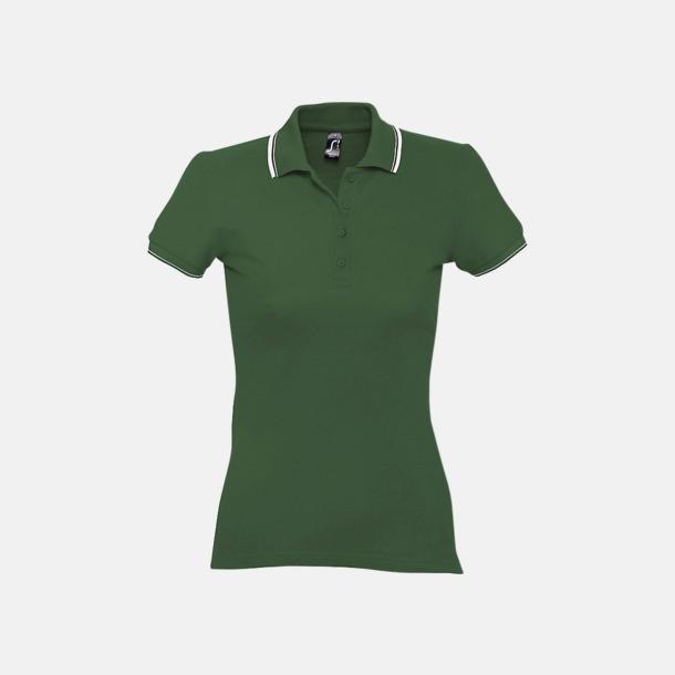 Golf Green/Vit (dam) Snygga pikétröjor för herr och dam