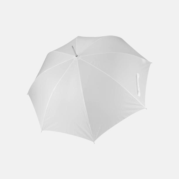 Vit Tvåfärgade golfparaplyer med reklamtryck