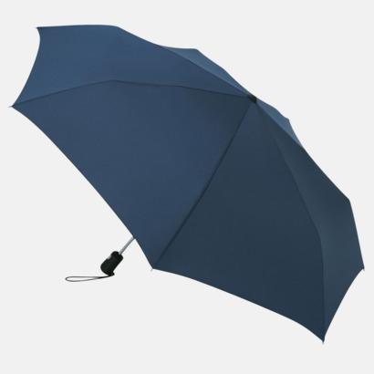 Marinblå Basildon Kompakt - Paraplyer Med tryck