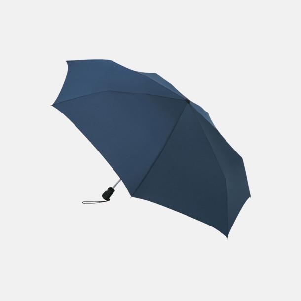 Marinblå Basildon kompakt - små paraplyer med reklamtryck