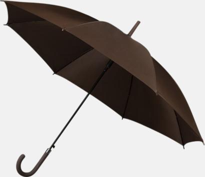 Chokladbrun Paraplyer med tryck