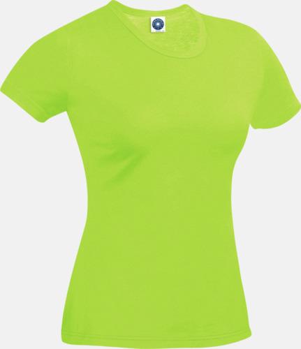 Floucerande Grön (dam) Funktions t-shirts i herr- & dammodell med reklamtryck