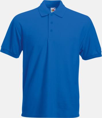 Royal Blue Pikétröjor med tryck eller brodyr