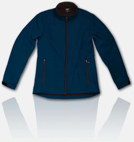 Marinblå Soft shell-jackor för herr, dam & barn med reklamtryck