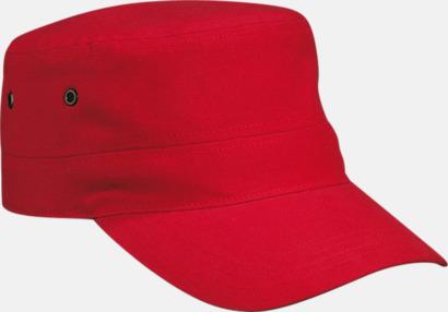 Röd Cam Army - keps i arméstil