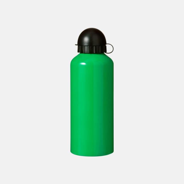 Grön Vattenflaskor av stål med gravyr