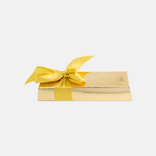 Guld Skinande chokladtackor med eget tryck