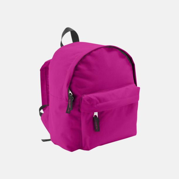 Fuchsia Juniorryggsäckar med reklamtryck