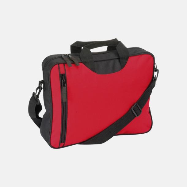 Röd Användbara dokumentväskor med reklamtryck