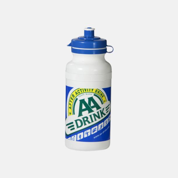 Vit Vattenflaskor i 4 storlekar med reklamtryck