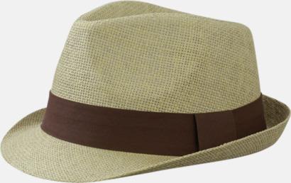 Sand/Brun Fina sommarhattar i många färger med reklambrodyr
