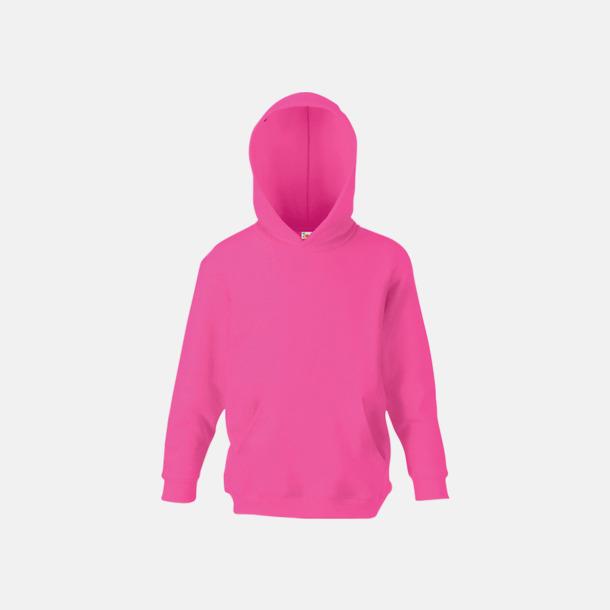 Fuchsia Huvtröjor för barn i många färger med reklamtryck