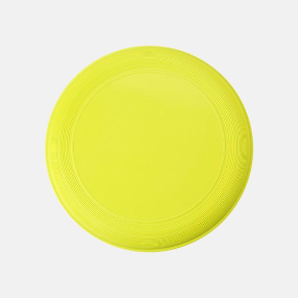 Ljusgul Sportiga frisbees i många färger med reklamtryck