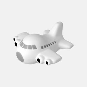 Flygplansformade stressbollar med reklamtryck