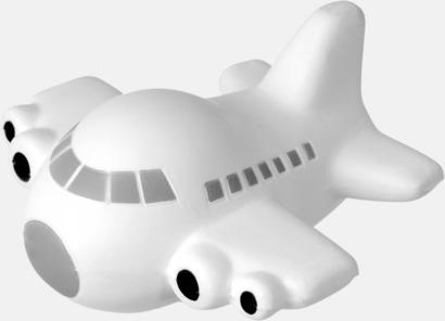 Vit/Grå/Svart Flygplansformade stressbollar med reklamtryck