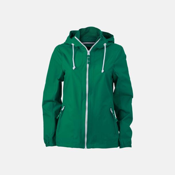Irish Green/Vit (dam) Seglarjackor i herr- & dammodell med reklamtryck