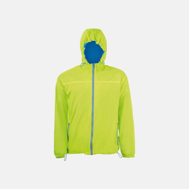 Neon Lime/Royal Blue Vind- och vattentäta jackor med reklamtryck