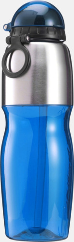 Blå / Silver Multipraktiska vattenflaskor med tryck