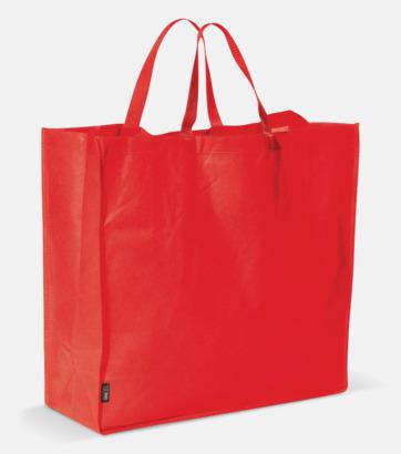 Röd Stor tygkasse med reklamtryck