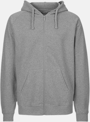 Sports Grey (herr) Ekologiska huvtröjor med blixtlås i herr- & dammodell med reklamtryck