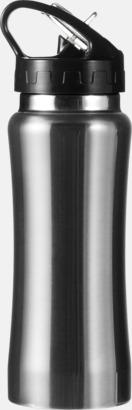 Silver Vattenflaskor med handtag - med reklamtryck