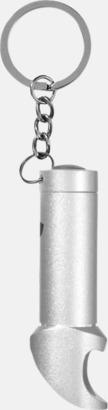 Silver Nyckelring, ficklampa och flasköppnare med reklamtryck