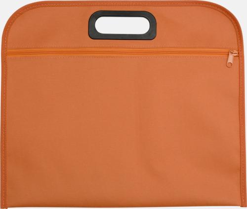 Orange Billiga dokumentfodral i många färger - med reklamtryck