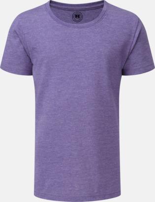 Purple Marl (flicka) Barn t-shirts i u- och v-hals med reklamtryck