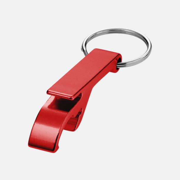 Röd Nyckelring och kloöppnare med tryck eller lasergravyr