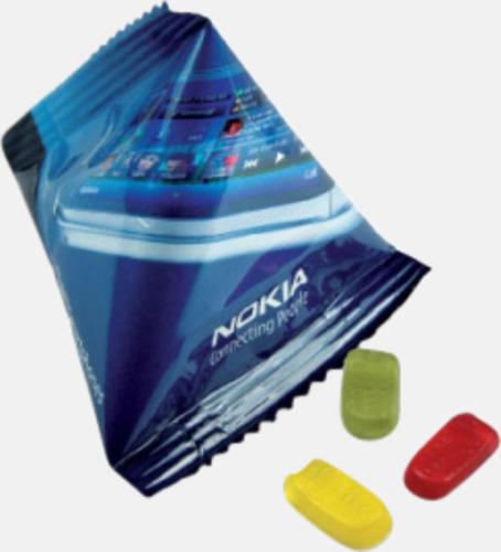 Gelébitar i pyramidpåse med reklamtryck