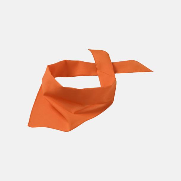 Orange Billiga scarfar med reklamtryck
