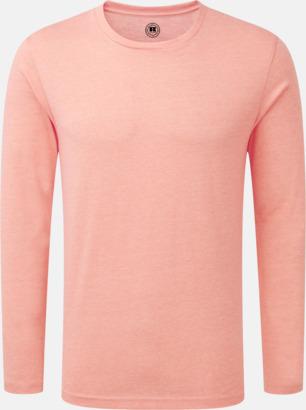Coral Marl (herr) Färgstarka långärms t-shirts i herr-, dam och barnmodell