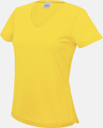 Sun Yellow Damtröjor i funktionsmaterial med reklamtryck